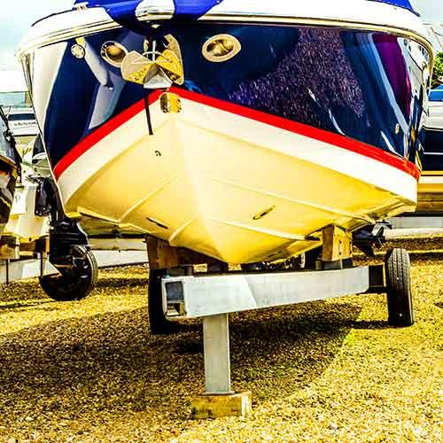 boat parking pad customer