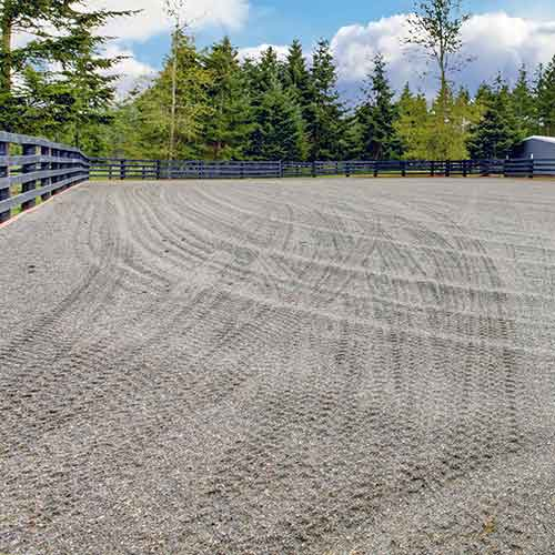 horse arena base footing